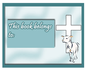 cross lamb bookplate this printable bookplate illustrated with a lamb ...